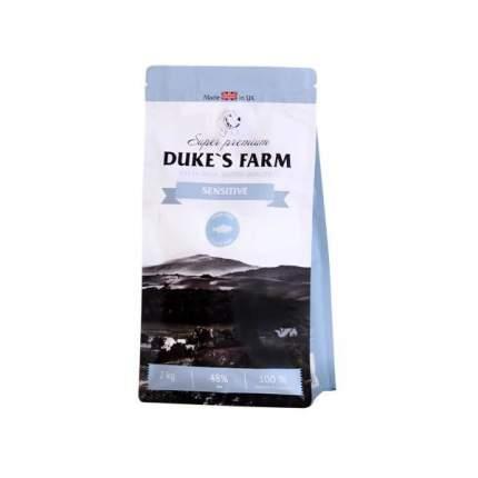 Сухой корм для собак DUKE'S FARM Sensitive, лосось, 2кг