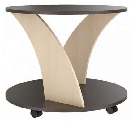 Журнальный стол СтолЛайн 54х67х67 см, коричневый/бежевый