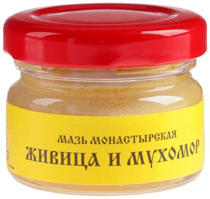 Мазь Монастырская Бизорюк Фабрика здоровья Живица с мухомором 25 мл