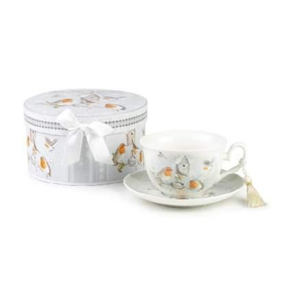 Чайная пара SIJ Снегири NC19001 1 пер.
