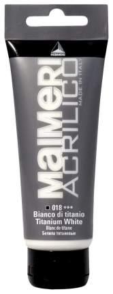 Акриловая краска Maimeri Acrilico M0924018 белила титановые 200 мл