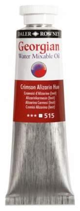 Масляная водорастворимая краска Daler Rowney Georgian краплак красный 37 мл