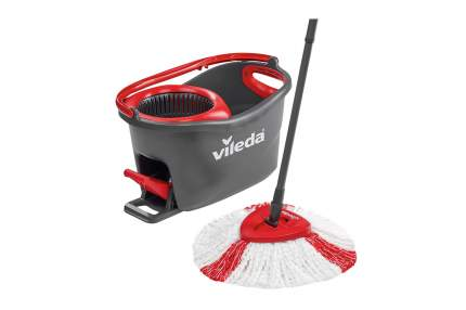 ВИЛЕДА Набор для уборки Турбо (швабра + ведро с педальным отжимом), цвет серый