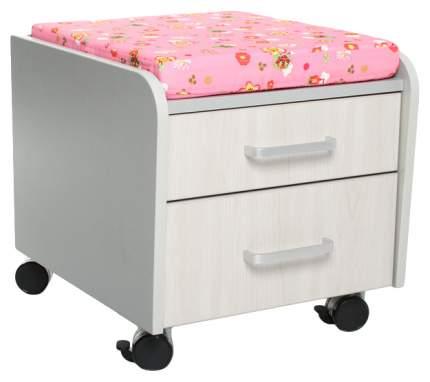 Тумбочка Comf-Pro BD-C2 розовый со зверями, серый, беленый дуб