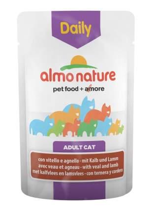 Влажный корм для кошек Almo Nature Daily, телятина, ягненок, 30шт, 70г