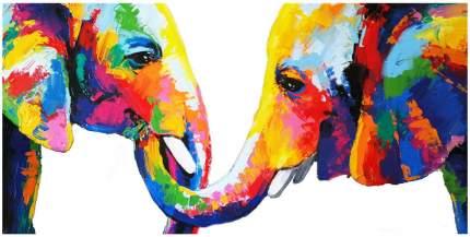 Репродукция 120х60 см Hoff Слоны