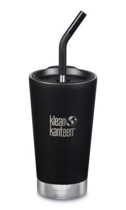 Термостакан Klean Kanteen Tumbler 16oz (473мл) Shale Black с трубочкой