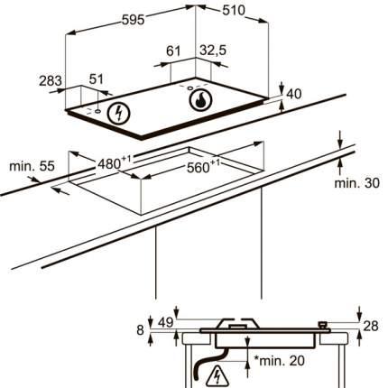 Встраиваемая варочная панель газовая Electrolux GPE363RCW White