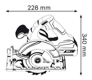 Аккумуляторная циркулярная пила Bosch GKS 18 V-LI 060166H008