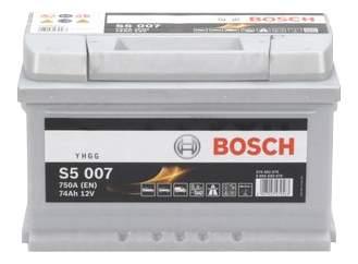Аккумулятор автомобильный автомобильный Bosch S5 Silver Plus 0 092 S50 070 74 Ач