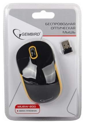 Мышь беспроводная Gembird MUSW-200BKY черный желтый USB