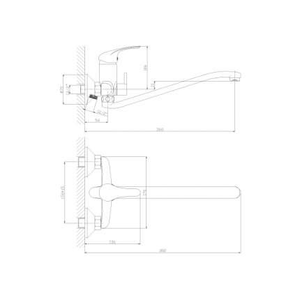 Смеситель универсальный Rossinka Silvermix A35-34 хром