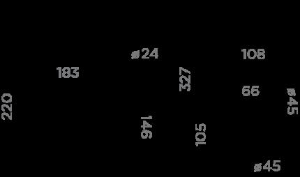 Смеситель для кухонной мойки OMOIKIRI Traditions Shinagawa C 4994177 хром