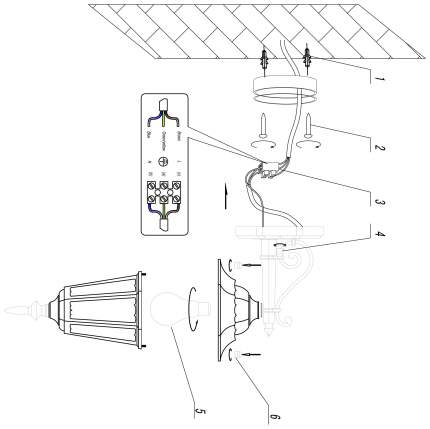 Настенный светильник Odeon Light lano 2320/1W