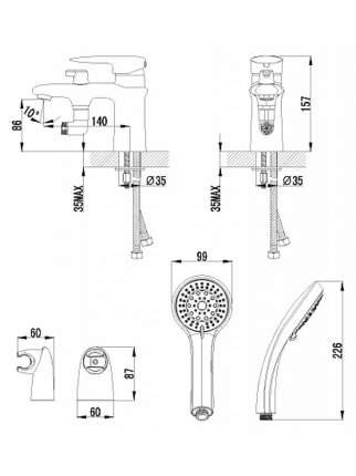 Смеситель с гигиеническим душем LEMARK Status LM4415C хром