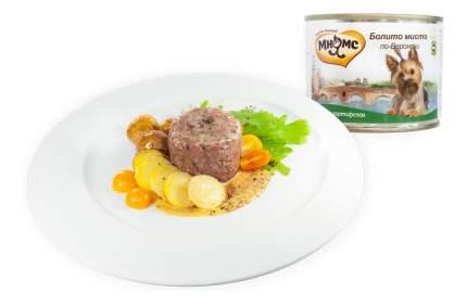 Консервы для собак Мнямс Болито мисто по-Веронски, дичь с картофелем, 200г