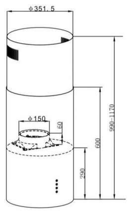 Вытяжка островная MAUNFELD Lee Light 35 White