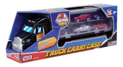 Грузовик MotorMax Переносной кейс для машинок в виде грузовика + 6 машин
