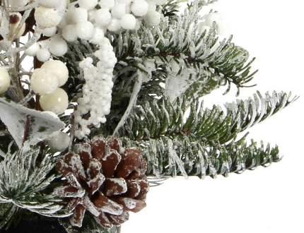 Хвойная композиция Глазго 45 см с шишками и белыми ягодами 83050