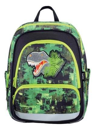 Ранец детский Hama Step by Step BaggyMax Speedy Green Dino 16 л зеленый 138536