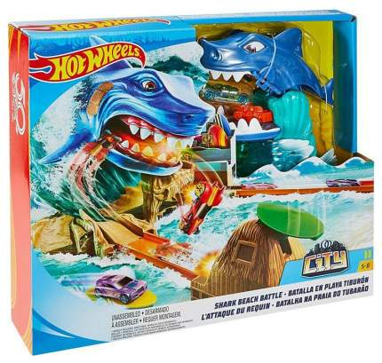 Автотрек Hot Wheels Mattel игровой набор Схватка с акулой