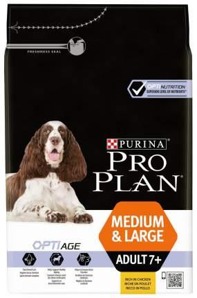 Сухой корм для собак PRO PLAN OptiAge Medium & Large Adult 7+, для пожилых, курица, 3кг