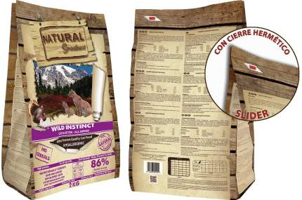 Сухой для кошек Natural Greatness Wild Instinct, гипоаллергенный, индейка и курица, 2кг