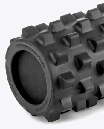 Массажный ролл RumbleRoller Black Compact Xfirm, повышенная жесткость, чёрный, 31х13 см