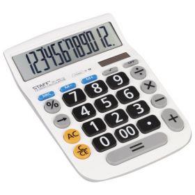 Калькулятор Staff PLUS настольный DC-999-12, большие кнопки, 12 разрядов, двойное п...