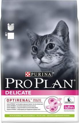 Сухой корм для кошек PRO PLAN Delicate, для чувствительных, ягненок, 3кг