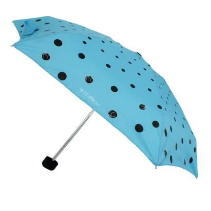 Зонт механический Flioraj 170408 FJ голубой