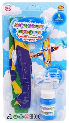 Мыльные пузыри Мерцающие Самолет 25 мл, 8 видов в ассортименте