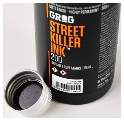 Заправки для маркеров Grog Street killer Death Black 200 мл