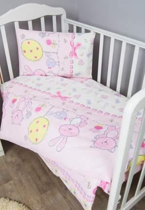 Комплект детского постельного белья Сонный гномик Акварель 3 предмета розовый