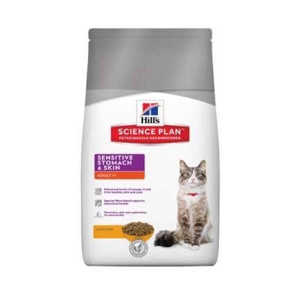 Сухой корм для кошек Hill's Science Plan Sensitive Stomach, курица, 5кг