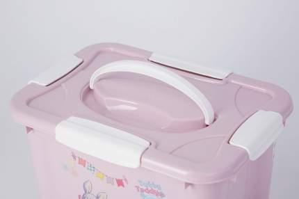 """Коробка универсальная с ручкой и аппликацией """"ME TO YOU"""" 5,5Л розовый"""