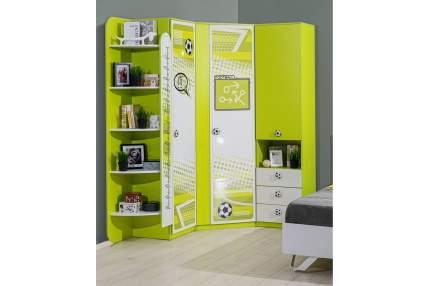 Платяной шкаф Hoff Футбол 80316956 50х46х209,2, лайм/белый экспо