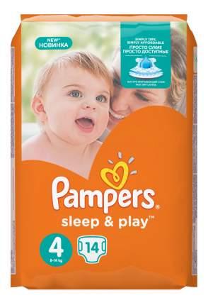Подгузники Pampers Sleep & Play 4 (8-14 кг), 14 шт.