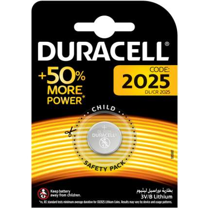 Батарейка Duracell 2025 1 шт