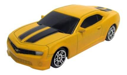 Машина металлическая Uni-Fortune 1:64 Chevrolet Camaro без механизмов желтый матовый