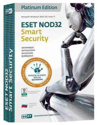 Антивирус ESET NOD32 Smart Security Platinum Edition на 1 устройство 24 мес.