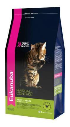 Сухой корм для кошек Eukanuba Hairball Control, для выведения шерсти, курица, 2кг
