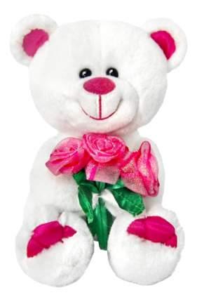 Мягкая игрушка LAVA Медведь Амурчик с букетом роз музыкальный 18 см