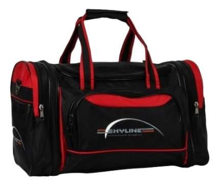 Дорожная сумка Polar 6067 черная/красная 47 x 26 x 31