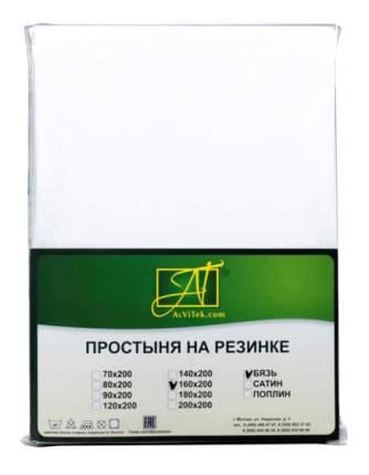 Простыня АльВиТек Бязь Импортная 160х200+25 см белый