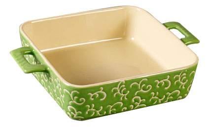 Форма для запекания квадратная, 32х23х7 см, зелёная