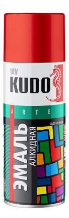 Эмаль универсальная черная глянцевая KUDO ,520 мл