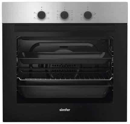 Встраиваемый электрический духовой шкаф Simfer B6EM14011 Нержавеющая сталь, черный