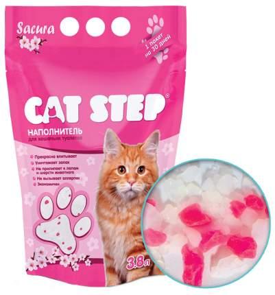 Наполнитель Cat Step Сакура силикагелевый 3.8 л сакура