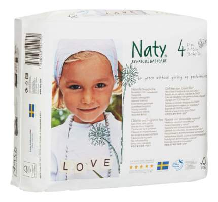 Подгузники Naty Размер 4 (7-18 кг), 27 шт.